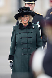 SANDHURST- UK- 16th Dec 2016. HRH The Duchess of Cornwall represents Her Majesty The Queen at The Sovereign's Parade, at the Royal Military Academy Sandhurst, Camberley, Surrey<br /> Photograph by Ian Jones