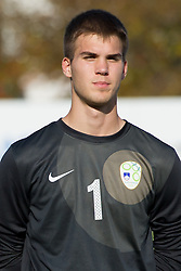 Gregor Zabret of Slovenia during football game between Slovenia and Andorra of UEFA Under19 Championship Qualifications, on October 15, 2013 in Bakovci, Slovenia. (Photo by Erik Kavas / Sportida)
