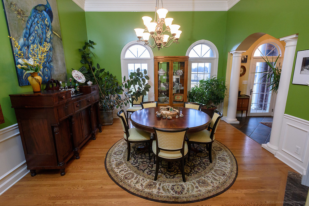 The formal dining room at the home of Kristen and David Embry in Pendleton, Ky. Feb. 22, 2018