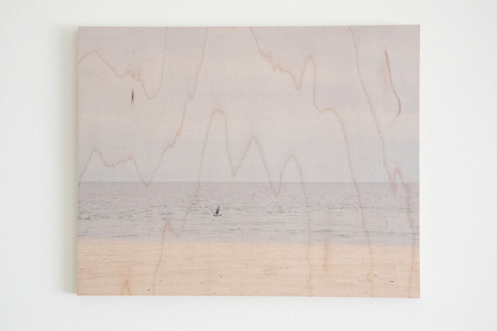 Santa Monica Beach Moment-printed on maple wood