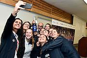 team under 17,  Giovanna Elena Smorto, Beatrice Del Pero, Clara Chicchisiola, Valeria Trucco, Costanza Verona, Elena Vella, Martina Fassina, Elisa Pinzan, Lucia Decortes, Giovanni Lucchesi<br /> Stelle d'Argento a Lucca. Premiazione Under 17 e Under 20 Femminili<br /> FIP 2016<br /> Lucca, 18/11/2016<br /> Foto Ciamillo - Castoria
