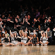 Providence cheer leaders and fans support their team during the Providence Vs St. John's Red Storm basketball game during the Big East Conference Tournament at Madison Square Garden, New York, USA. 12th March 2014. Photo Tim Clayton