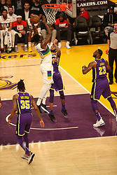 February 27, 2019 - Los Angeles, CA, U.S. - LOS ANGELES, CA - FEBRUARY 27: New Orleans Pelicans Center Julius Randle (30) goes up strong for a shot during the first half of the New Orleans Pelicans versus Los Angeles Lakers game on February 27, 2019, at Staples Center in Los Angeles, CA. (Photo by Icon Sportswire) (Credit Image: © Icon Sportswire/Icon SMI via ZUMA Press)