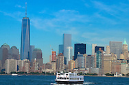 Ellis Island. View of Manhattan