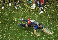 Adil Rami (France) celebration on the pitch full of rain<br /> Celebration Victory France <br /> Moscow 15-07-2018 Football FIFA World Cup Russia  2018 Final / Finale <br /> France - Croatia / Francia - Croazia <br /> Foto Matteo Ciambelli/Insidefoto