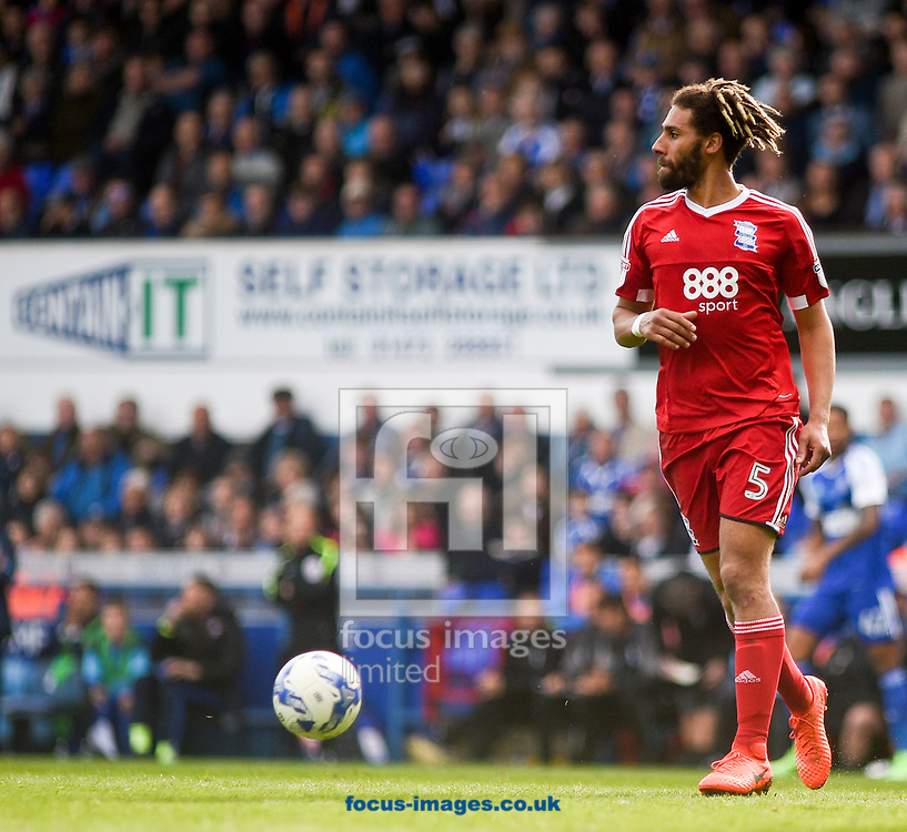 Ryan Shotton of Birmingham City with the ball during the Sky Bet Championship match at Portman Road, Ipswich<br /> Picture by Hannah Fountain/Focus Images Ltd 07814482222<br /> 01/04/2017