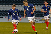 Kai Kennedy (Rangers FC) & Andrew Winter (Hamilton Academical) link up during the U17 European Championships match between Portugal and Scotland at Simple Digital Arena, Paisley, Scotland on 20 March 2019.