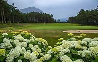 MIEMING - Tirol Oostenrijk ,  -   hole 18    Golf Park Mieminger Plateau.   COPYRIGHT KOEN SUYK