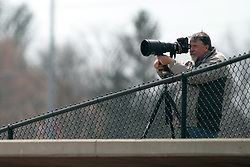 06 April 2013:  Pantagraph Photojournalist Steve Smedley during an NCAA division 1 Missouri Valley Conference (MVC) Baseball game between the Missouri State Bears and the Illinois State Redbirds in Duffy Bass Field, Normal IL