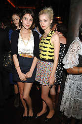 Left to right, ALEXA CHUNG and PORTIA FREEMAN at a party hosted by Belvedere Vodka and Jade Jagger to launch The Belvedere Jagger Dagger cocktail held at Automat, Berkeley Street, London on 8th May 2008.<br /><br />NON EXCLUSIVE - WORLD RIGHTS ******(EMBARGOED FOR PUBLICATION IN UK MAGAZINES UNTIL 2 MONTHS AFTER CREATE DATE AND TIME)****** www.donfeatures.com  +44 (0) 7092 235465
