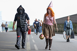 © Licensed to London News Pictures. 25/05/2018. LONDON, UK.  Cosplayers attend MCM Comic Con at Excel in East London.   Thousands of fans of video games, comic books and other popular character take the opportunity to dress up as their favourite characters.  Photo credit: Stephen Chung/LNP