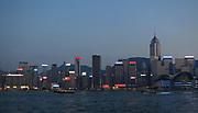 Hong Kong skyline from Kowloon, China; September, 2013.