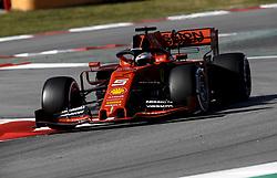 February 18, 2019 - Barcelona, Spain - Motorsports: FIA Formula One World Championship 2019, Test in Barcelona, , #5 Sebastian Vettel (GER, Scuderia Ferrari) (Credit Image: © Hoch Zwei via ZUMA Wire)