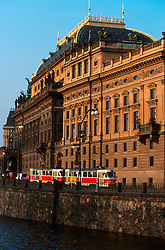CZECH REPUBLIC PRAGUE MAR00 - The National Theatre on the banks of the river Vltava in central Prague. ..jre/Photo by Jiri Rezac..© Jiri Rezac 2000