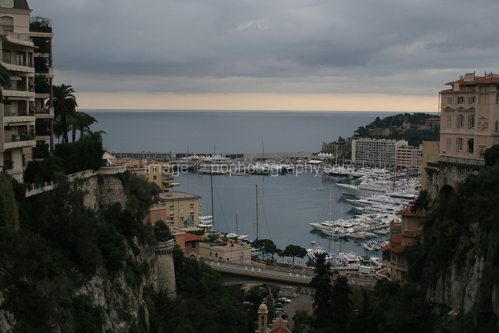 Monaco France view of the harbour<br />