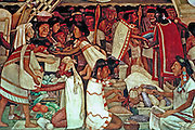 MEXICO, MEXICO CITY, MURALS Rivera's 'Grand Tenochtitlan' Aztec market