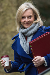 Downing Street, London, February 11th 2016. Environment Food and Rural Affairs Secretary Elizabeth Truss attends the weekly cabinet meeting. <br /> &copy;Paul Davey<br /> FOR LICENCING CONTACT: Paul Davey +44 (0) 7966 016 296 paul@pauldaveycreative.co.uk
