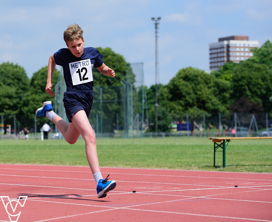 Metro Blind Sport's 2017 Athletics Open held at Mile End Stadium.  60m.  Arthur Milles<br /> <br /> Picture: Chris Vaughan Photography for Metro Blind Sport<br /> Date: June 17, 2017