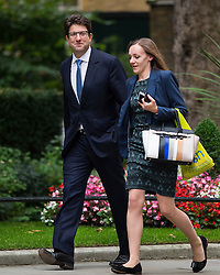 © Licensed to London News Pictures. 08/09/2015. London, UK. Baron Feldman of Elstree (left) arriving at 10 Downing Street in London for cabinet meeting. Photo credit: Ben Cawthra/LNP
