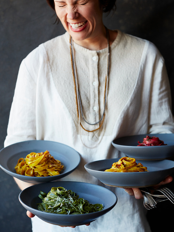 Handmade Infused Pasta: Beet, Saffron, Parsley and Herb
