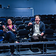 The Second City comedians Barry Hite and Eileen Montelione lead an Improv master class with members of Cocheco Arts and Technology Academy at The Music Hall Loft in Portsmouth, NH