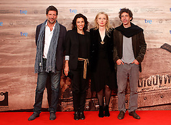21.09.2011, Sebastian Donostia, ESP, 59. San Sebsatian Filmfestival, Zinemaldia, im Bild The actress Julie Delpy (2r) and Aure  Atika (2l), the actor Eric Elmosnino (r) and the Producer Michael Gentile (l) during the 59th San Sebastian Donostia International Film Festival - Zinemaldia.September 20,2011. EXPA Pictures © 2011, PhotoCredit: EXPA/ Alterphoto/ Acero +++++ ATTENTION - OUT OF SPAIN/(ESP) +++++