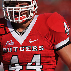 Sep 19, 2009; Piscataway, NJ, USA; Rutgers linebacker Ryan D'Imperio (44) during warmups before the first half of NCAA college football between Rutgers and Florida International at Rutgers Stadium.