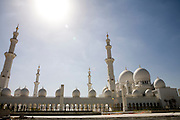 Abu Dhabi, United Arab Emirates (UAE)..February 4th 2009..The Sheikh Zayed Mosque in construction