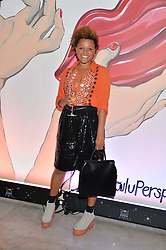 GEMMA CAIRNEY at the launch of The Lulu Perspective to celebrate 25 years of Lulu Guinness held at 74a Newman Street, London on 13th September 2014.