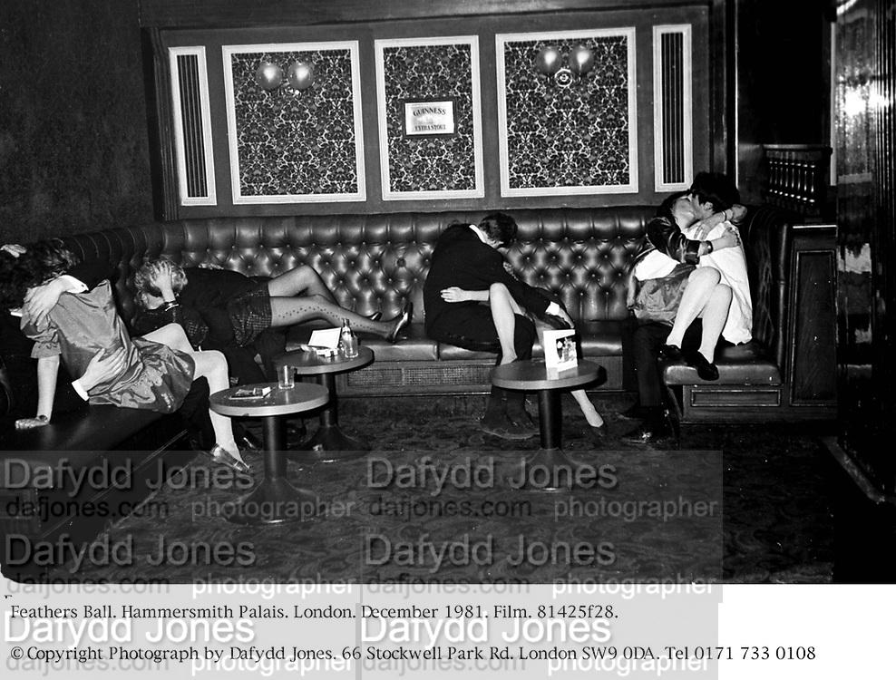 Feathers Ball. Hammersmith Palais. London. December 1981. Film. 81425f28.<br />© Copyright Photograph by Dafydd Jones. 66 Stockwell Park Rd. London SW9 0DA. Tel 0171 733 0108