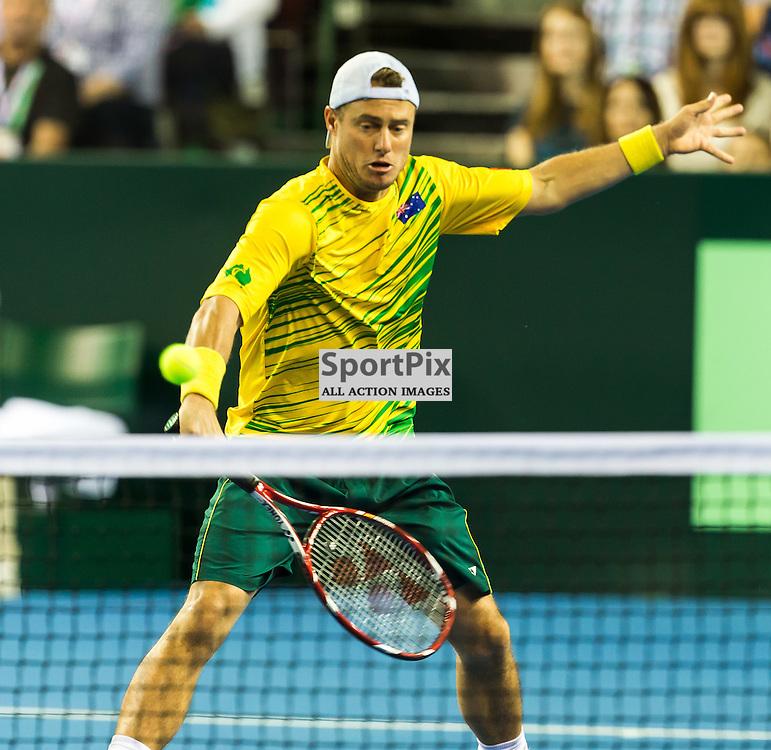 Lleyton Hewitt in action during the Davis Cup Semi-final between Great Britian and Australia (c) ROSS EAGLESHAM | Sportpix.co.uk