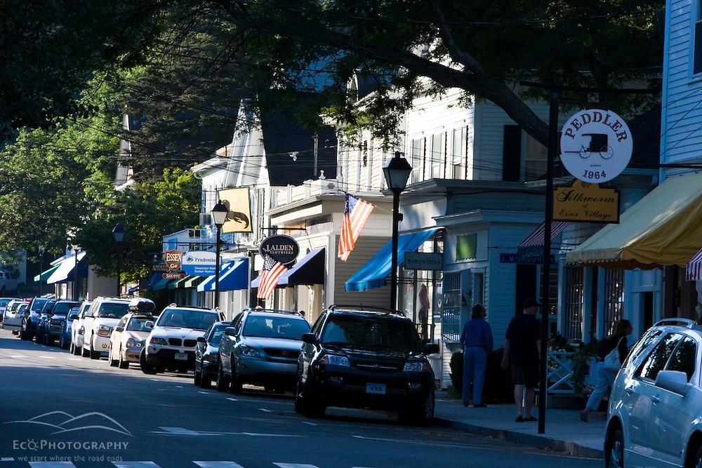 Main Street in Essex, Connecticut.