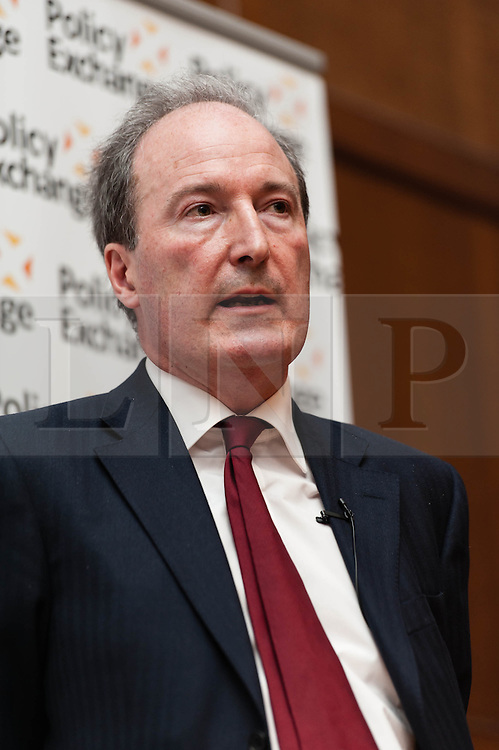 "© Licensed to London News Pictures. 16/04/2013. London, UK.   Charles Moore, authorised biographer of Margaret Thatcher, speaks at the event ""Margaret Thatcher: Mother of Modernisation"" which considers Thatcher's legacy on public services, held by the think-tank Policy Exchange.  Policy Exchange a think tank whose mission is to develop and promote new policy ideas which deliver better public services, a stronger society and a more dynamic economy. Charles Moore is the former chairman of Policy Exchange and former editor of the Daily Telegraph.  Photo credit : Richard Isaac/LNP"