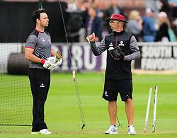 Jim Allenby and Matthew Maynard talk to each other.  - Mandatory by-line: Alex Davidson/JMP - 15/07/2016 - CRICKET - Cooper Associates County Ground - Taunton, United Kingdom - Somerset v Middlesex - NatWest T20 Blast