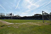 Clear skies above the JD Stadium before the Sky Bet League 1 match between Bury and Southend United at the JD Stadium, Bury, England on 8 May 2016. Photo by Mark Pollitt.