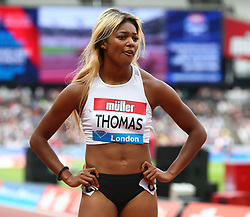 July 22, 2018 - London, United Kingdom - Gabrielle Thomas  of USA   after the 200m Women.during the Muller Anniversary Games Day One at The London Stadium on July 22, 2018 in London, England. (Credit Image: © Action Foto Sport/NurPhoto via ZUMA Press)
