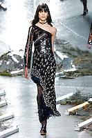 Ewa Wladymiruk (SUPREME) walks the runway wearing Rodarte Fall 2015 during Mercedes-Benz Fashion Week in New York on February 17, 2015