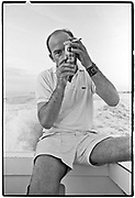 March 11~14, 1974  •  Cozumel, Mexico  •  the Playboy interview, heading out on the Great Shark Hunt  •  Craig Vetter-writer  •  Tri-X