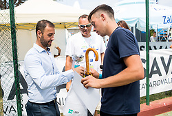 Tenis Fest trophy ceremony during Day 6 at ATP Challenger Zavarovalnica Sava Slovenia Open 2018, on August 8, 2018 in Sports centre, Portoroz/Portorose, Slovenia. Photo by Vid Ponikvar / Sportida
