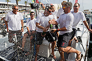 SPAIN, Cartagena. 28th August 2011. AUDI MedCup, Region of Murcia Cartagena Trophy. Soto 40 NGONI celebrate the boat winning the Region of Murcia Cartagena Trophy.