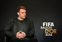 Zuerich, 12.1.2015, FIFA Ballon d'Or 2014, Manuel Neuer (GER) an der FIFA Ballon d`Or Gala 2014. (Melanie Duchene/EQ Images)