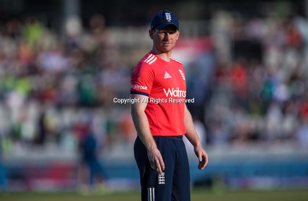 07.09.2016. Old Trafford, Manchester, England. Natwest International T20 Cricket. England Versus Pakistan. England middle order batsman Eoin Morgan.