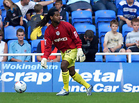 Photo: Daniel Hambury.<br /> Reading v Millwall. Coca Cola Championship.<br /> 20/08/2005.<br /> Millwall's Adrian Serioux, their third player to keep goal in the same game.