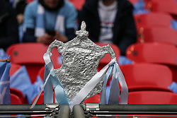 A tin foil FA CUP trophy - Mandatory by-line: Arron Gent/JMP - 06/04/2019 - FOOTBALL - Wembley Stadium - London, England - Manchester City v Brighton and Hove Albion - Emirates FA Cup Semi Final