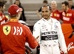 March 30, 2019 - Sakhir, Bahrain - Motorsports: FIA Formula One World Championship 2019, Grand Prix of Bahrain, ..#5 Sebastian Vettel (GER, Scuderia Ferrari Mission Winnow), #44 Lewis Hamilton (GBR, Mercedes AMG Petronas Motorsport) (Credit Image: © Hoch Zwei via ZUMA Wire)