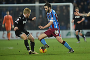 Jamie Ness of Scunthorpe United during the Sky Bet League 1 match between Scunthorpe United and Wigan Athletic at Glanford Park, Scunthorpe, England on 2 January 2016. Photo by Ian Lyall.