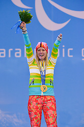 Women's Slalom Alpine Skiing Medal Ceremony at the 2014 Sochi Winter Paralympic Games, Russia