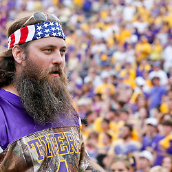 Oct 12, 2013; Baton Rouge, LA, USA; Willie Robertson of the television show Duck Dynasty on the field during the second half of a game between the LSU Tigers and the Florida Gators at Tiger Stadium. LSU defeated Florida 17-6. Mandatory Credit: Derick E. Hingle-USA TODAY Sports