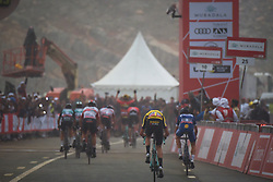 March 1, 2019 - Jebel Jais, United Arab Emirates - The Red Jersey, Primoz Roglic wins the sixth Rak Properties Stage of UAE Tour 2019, a 180km with a start from Ajman and finish in Jebel Jais. .On Friday, March 1, 2019, in Jebel Jais, Ras Al Khaimah Emirate, United Arab Emirates. (Credit Image: © Artur Widak/NurPhoto via ZUMA Press)