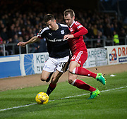 Dundee&rsquo;s Cammy Kerr and Aberdeen&rsquo;s Niall McGinn - Dundee v Aberdeen in the Ladbrokes Scottish Premiership at Dens Park, Dundee. Photo: David Young<br /> <br />  - &copy; David Young - www.davidyoungphoto.co.uk - email: davidyoungphoto@gmail.com